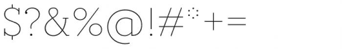Circe Slab A Thin Font OTHER CHARS