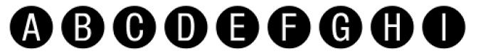 Circle Frame Neg MT Font UPPERCASE