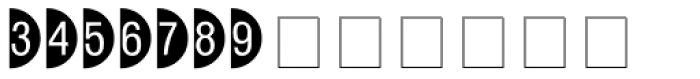 Circle Frame Neg MT Font LOWERCASE