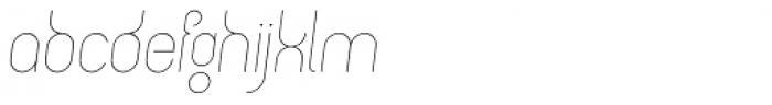 Circularis Thin Alt Italic Font LOWERCASE