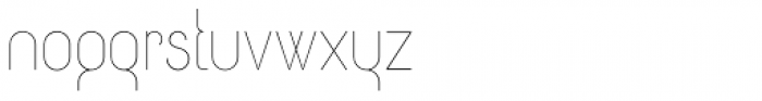 Circularis Thin Alt Font LOWERCASE