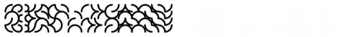 Cirkel Stripes Medium Font UPPERCASE