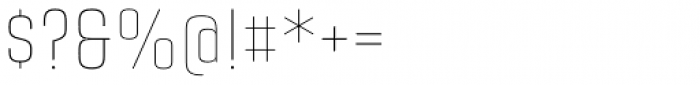 Citadina Thin Font OTHER CHARS