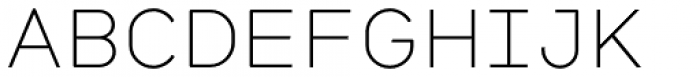 Citrine Light Font UPPERCASE