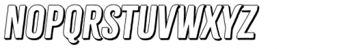 Citrus Gothic Shadow Italic Font UPPERCASE