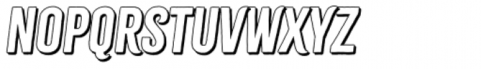 Citrus Gothic Shadow Italic Font LOWERCASE