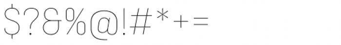 Ciutadella Display Thin Font OTHER CHARS