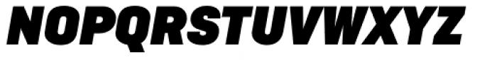 Ciutadella Display Ultra Black Italic Font UPPERCASE