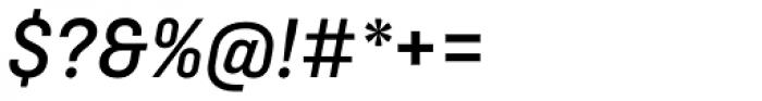 Ciutadella Medium Italic Font OTHER CHARS