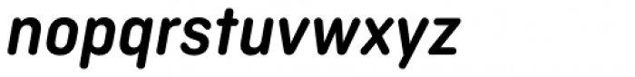 Ciutadella Rounded SemiBold Italic Font LOWERCASE