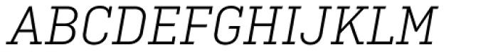 Ciutadella Slab Light Italic Font UPPERCASE