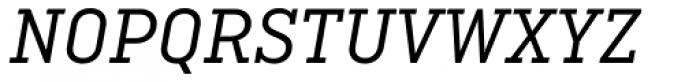 Ciutadella Slab Regular Italic Font UPPERCASE