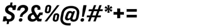 Ciutadella Slab Semi Bold Italic Font OTHER CHARS