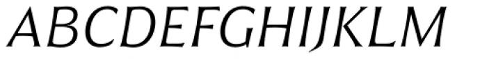 Civane Ext Light Italic Font UPPERCASE