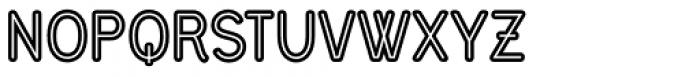 Civic Sans Balloon Inline Font UPPERCASE