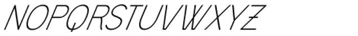 Civic Sans Light Italic Font UPPERCASE