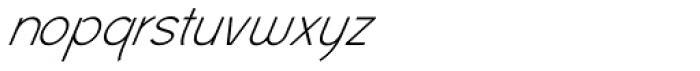Civic Sans Light Italic Font LOWERCASE