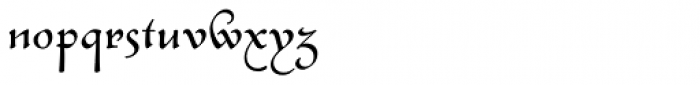 Civilite Font LOWERCASE