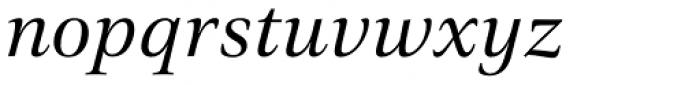 Civita Italic Font LOWERCASE