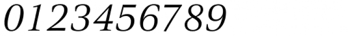 Civita Light Italic Font OTHER CHARS
