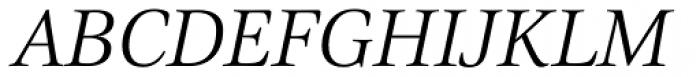 Civita Light Italic Font UPPERCASE