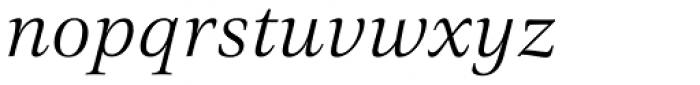 Civita Light Italic Font LOWERCASE