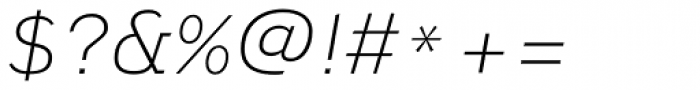 Civolis Light Italic Font OTHER CHARS