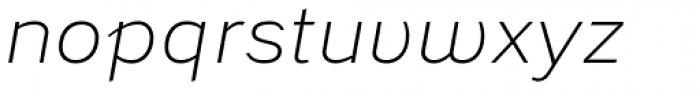 Civolis Light Italic Font LOWERCASE