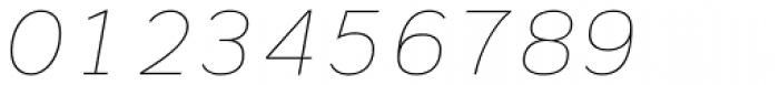 Civolis Thin Italic Font OTHER CHARS