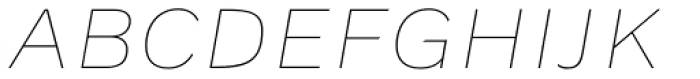 Civolis Thin Italic Font UPPERCASE