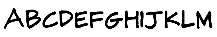 CJ Potter Handwriting Font UPPERCASE
