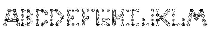 CJMeccanector Font UPPERCASE