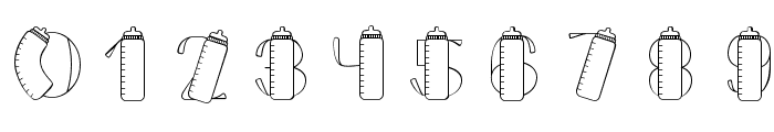 CK Baby Bottle Font OTHER CHARS