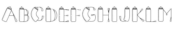 CK Baby Bottle Font UPPERCASE