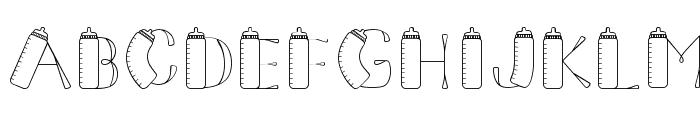 CK Baby Bottle Font LOWERCASE