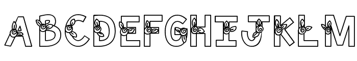 CK Block Rose Font UPPERCASE