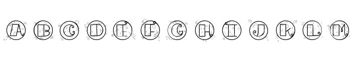 CK Bubbles Font UPPERCASE