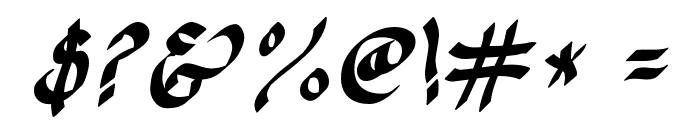 CK Calligraphy Font OTHER CHARS