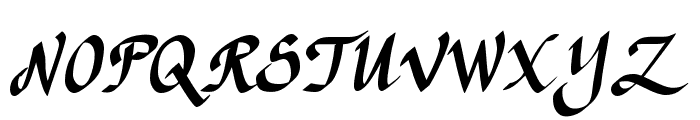 CK Calligraphy Font UPPERCASE