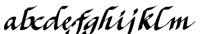CK Calligraphy Font LOWERCASE