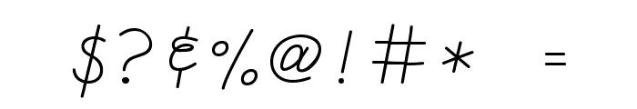 CK Cursive Font OTHER CHARS