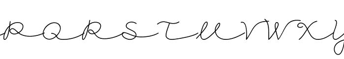 CK Cursive Font UPPERCASE