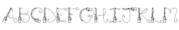 CK Fishing Pole Font UPPERCASE