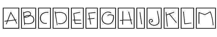 CK Fun Boxes Font UPPERCASE