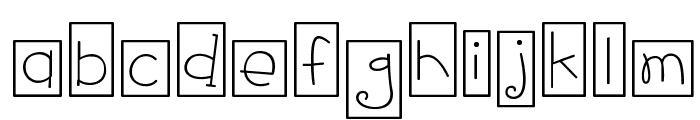CK Fun Boxes Font LOWERCASE