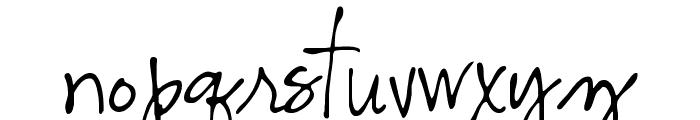 CK Alis Hand Font LOWERCASE