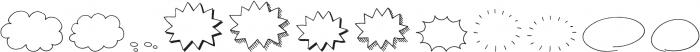 CLASTA Extras otf (400) Font UPPERCASE