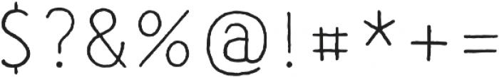 CLASTA Light otf (300) Font OTHER CHARS