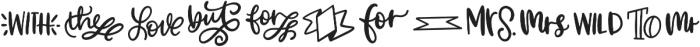 CLN-Catchwords Regular otf (400) Font LOWERCASE