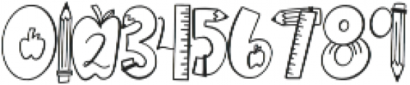 CLN-Homework Regular otf (400) Font OTHER CHARS